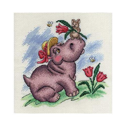 D-0628 Набор для вышивания PANNA 'Романтическое настроение' 21x21см