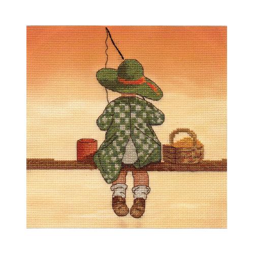 D-1301 Набор для вышивания PANNA 'Рыбалка' 16,5x15см