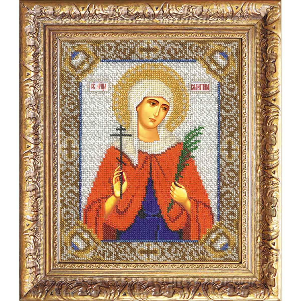 311 Набор для вышивания бисером 18*22,5см (Св.Валентина, арт.БИ-300)