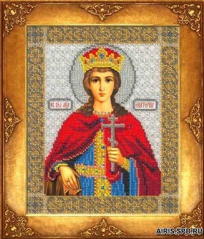 317 Набор для вышивания бисером 18*22,5см (Св.Екатерина, арт.БИ-300)