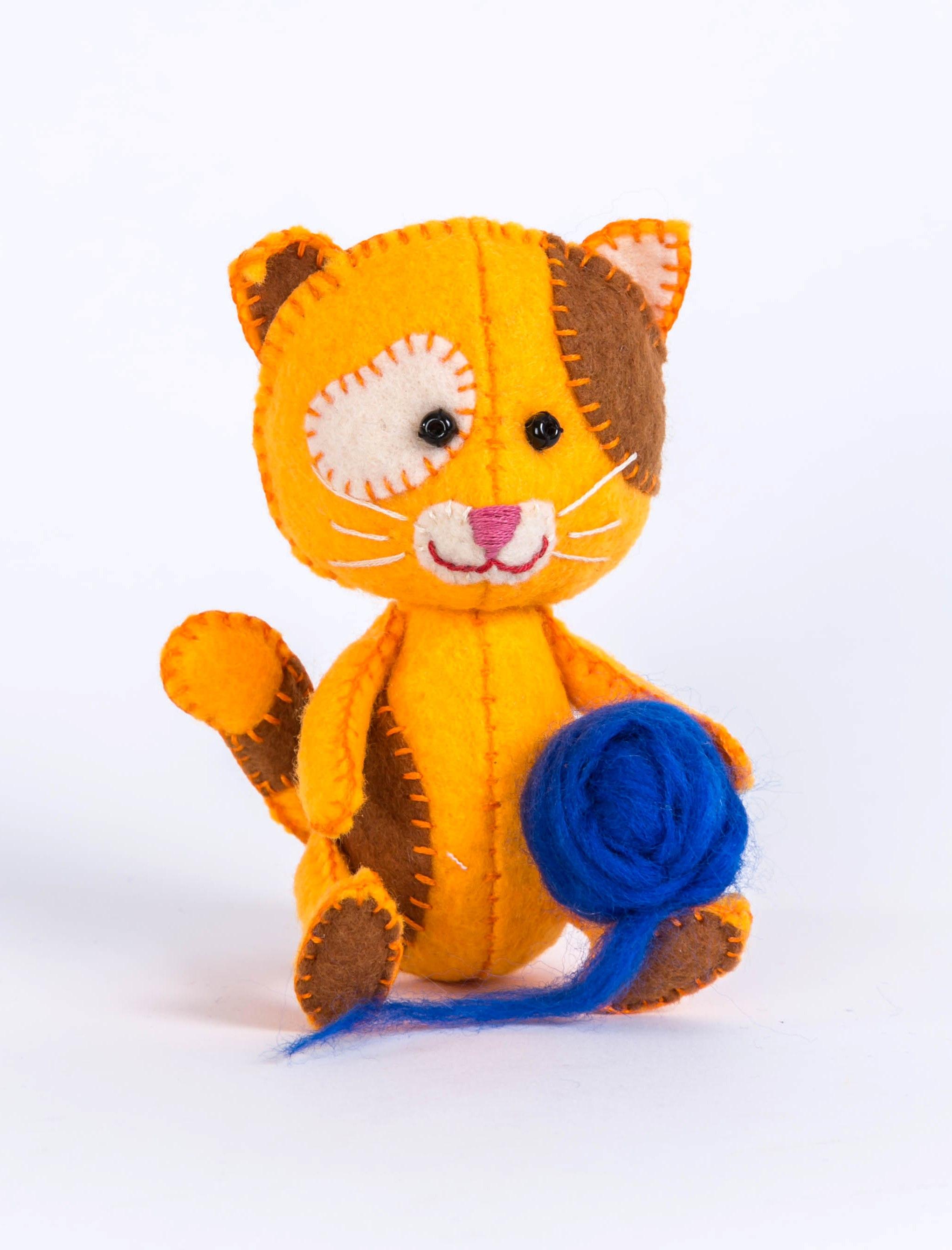 ПФД-1059 Набор для изготовления текстильной игрушки серия Детки 'Котёнок Рыжик