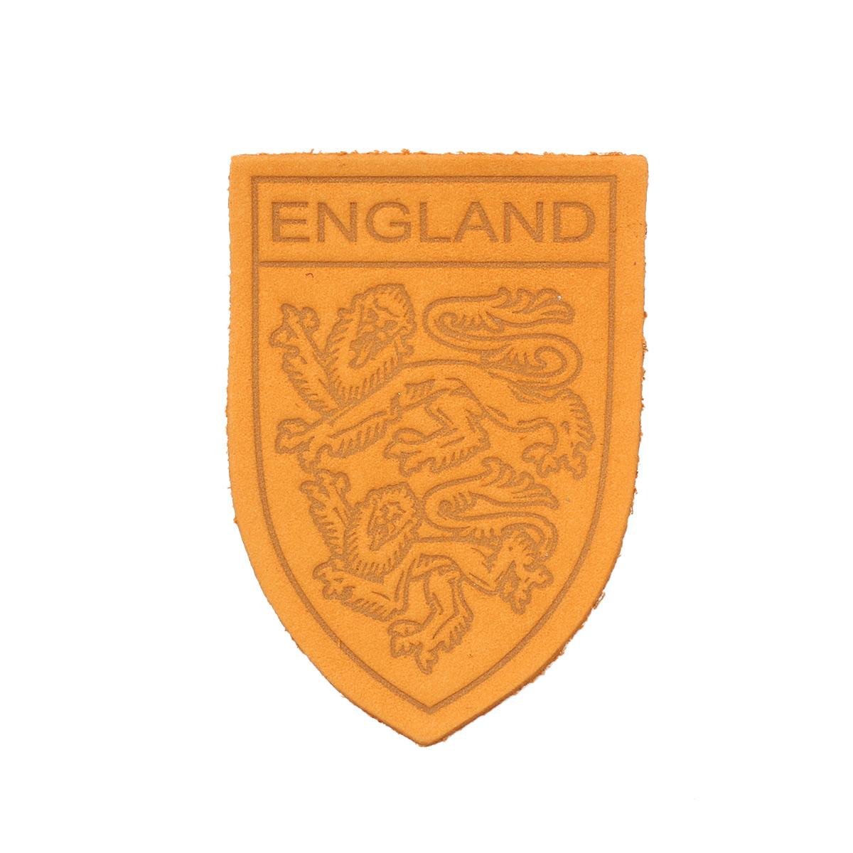 Термоаппликация герб England 3,9*5,5см дизайн №11, 100% кожа