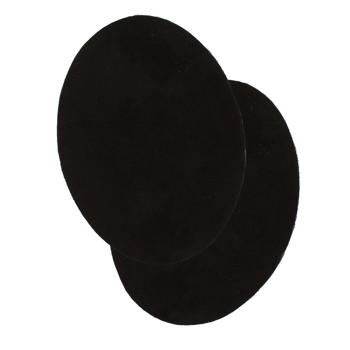 5208 Заплатка термоклеевая из замши овал большой 12,2*15см, 2шт в уп., 100% кожа