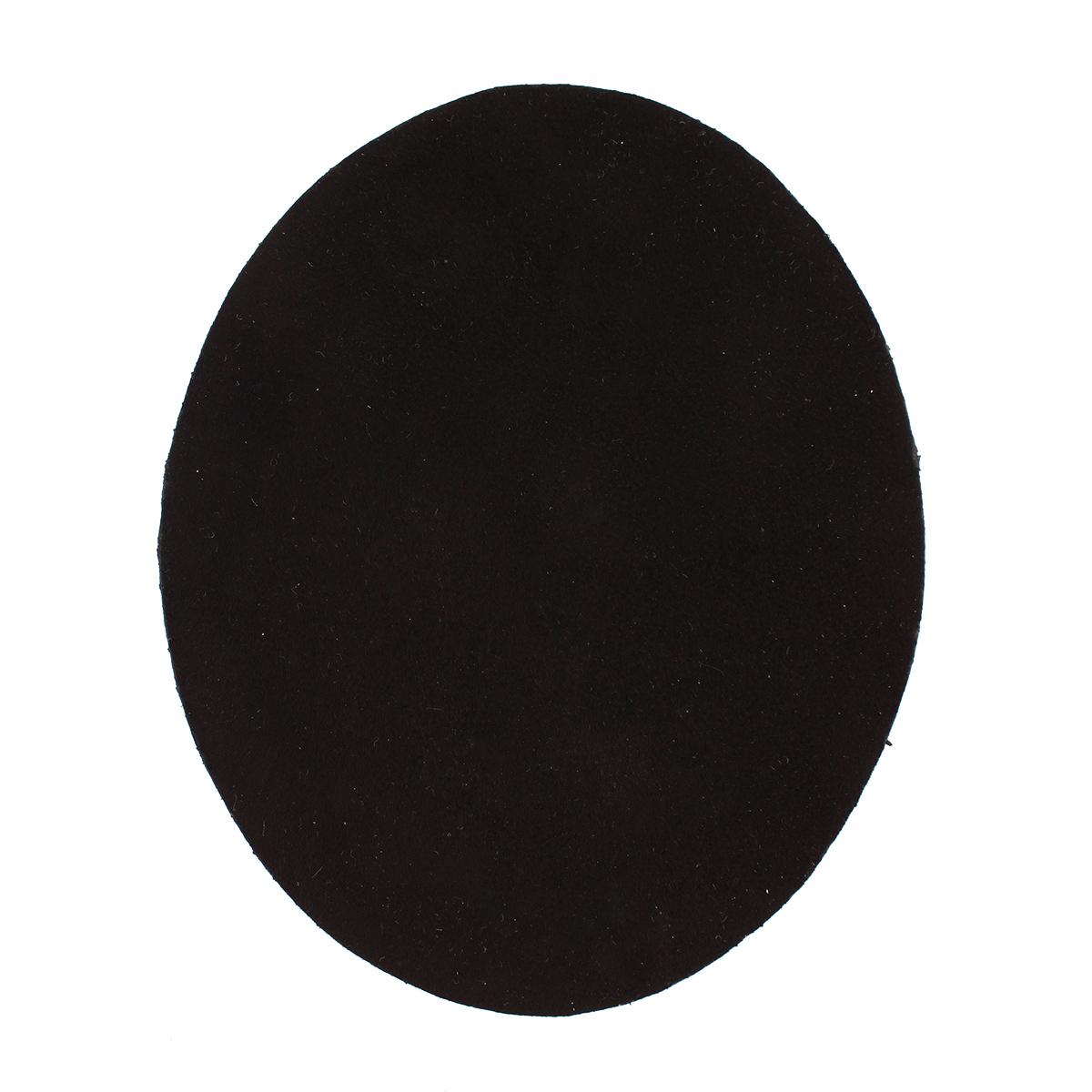 Термоаппликация замша овал маленький, 2шт в уп., 100% кожа