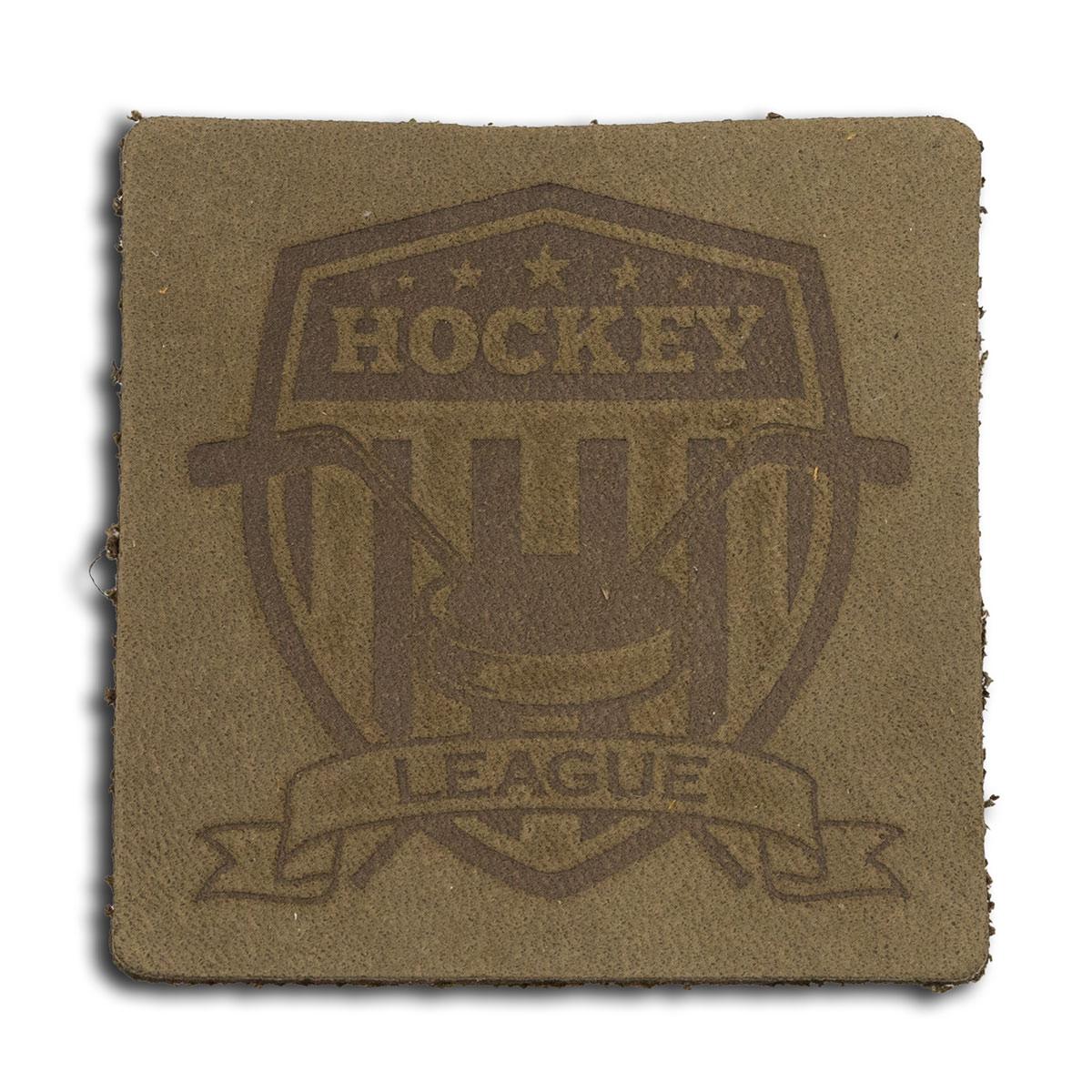 9 Термоаппликация из кожи Хоккей 5*5см, 100%