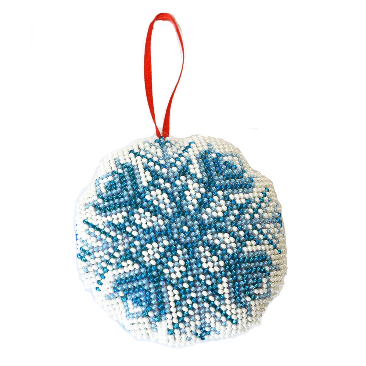 БИ-108 Набор для вышивания бисером'Созвездие'. Новогодняя игрушка 'Снежинка'8,5*8,5см