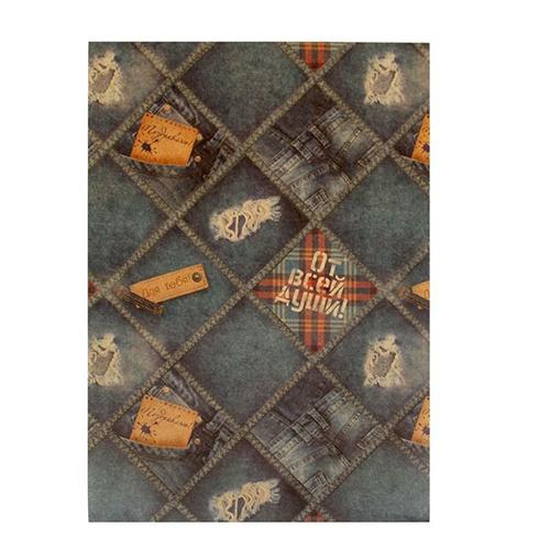 1133682 Бумага крафт для творчества 'Джинс', 21 х29.7 см