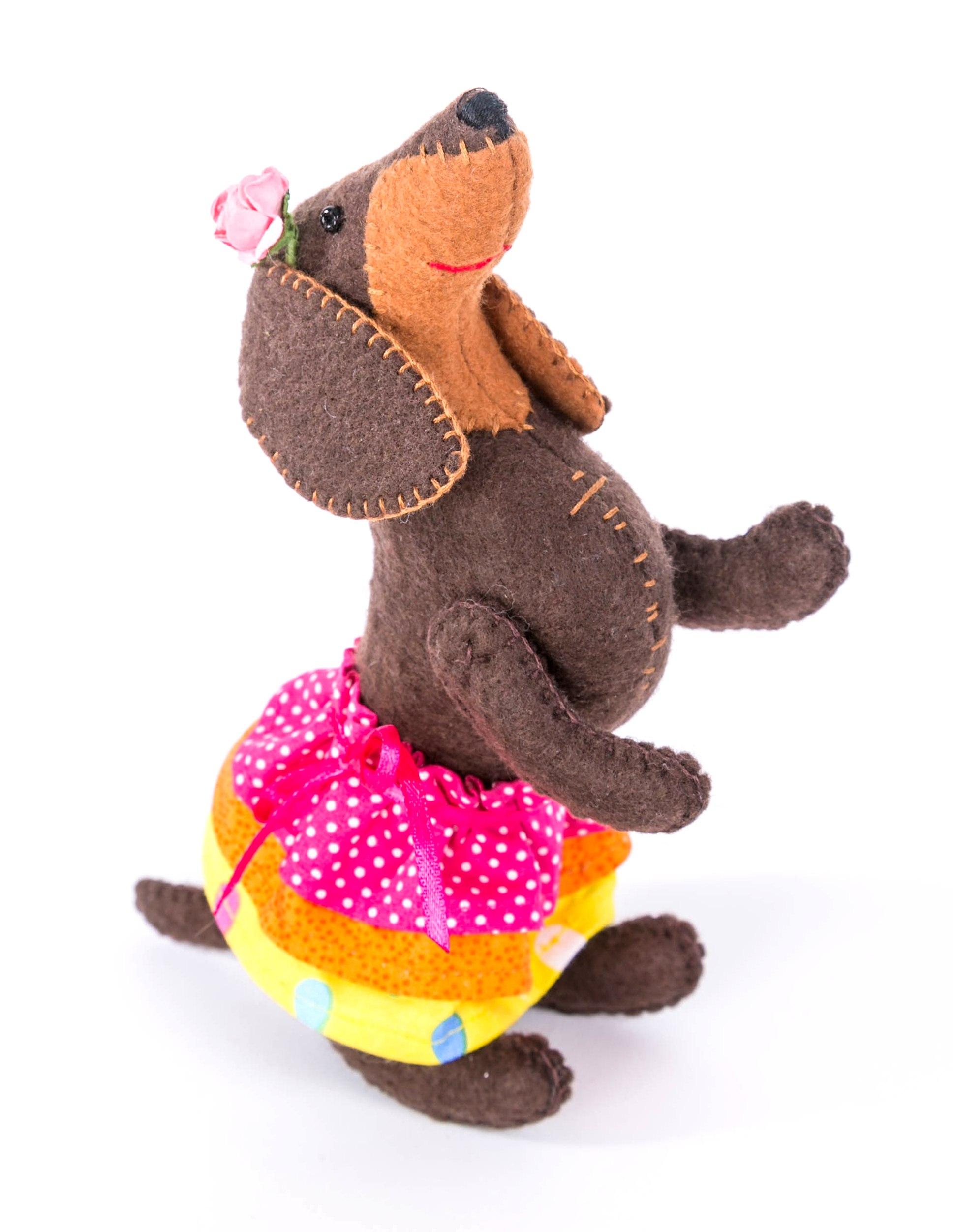 ПФЗД-1010 Набор для изготовления текстильной игрушки серия из фетра Забавные друзья 'Красотка' 10*18,5см