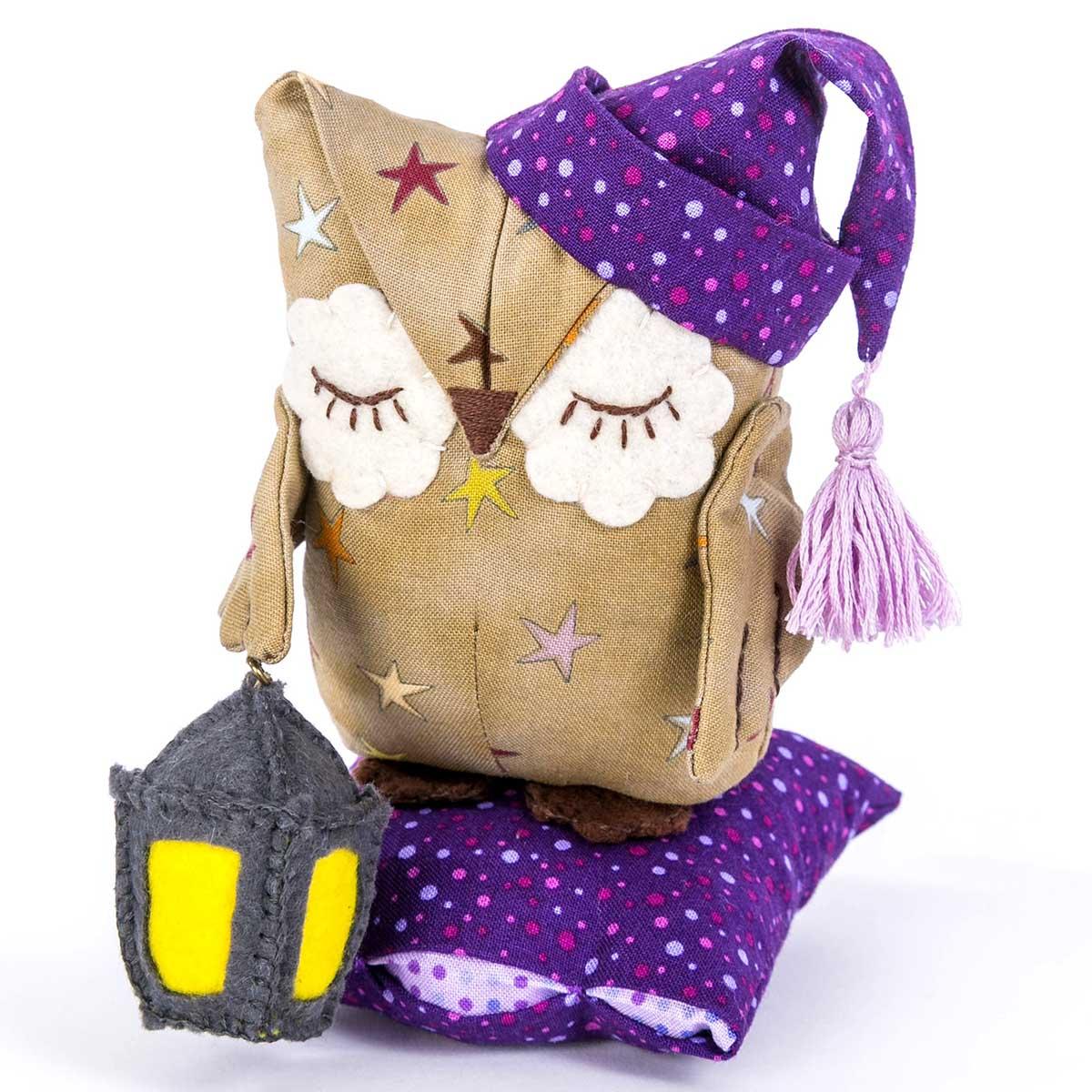 ПСН-904 Набор для создания текстильной игрушки серия Сказки на ночь 'Совенок Дрема' 14,5см