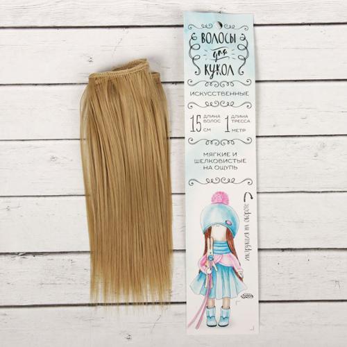 2294861 Трессы для кукол 'Прямые' длина волос 15 см, ширина 100 см, цвет № 24