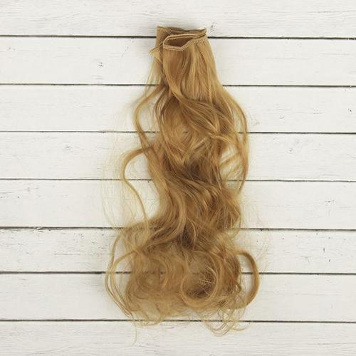 2294347 Волосы - тресс для кукол 'Кудри' длина волос 40 см, ширина 50 см, №18
