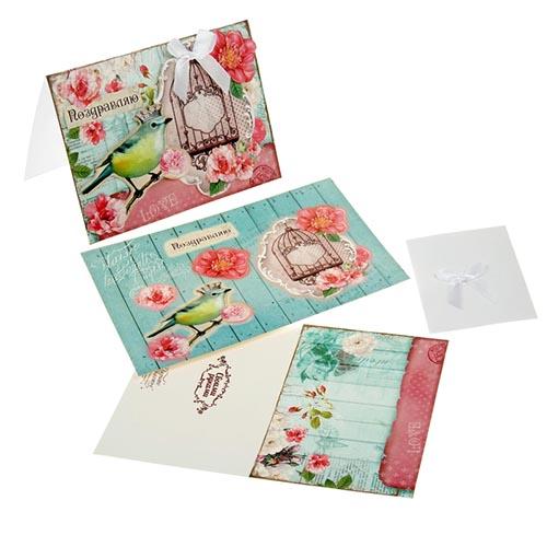 874761 Набор для оформления открытки хенд-мейд 'Поздравляю'