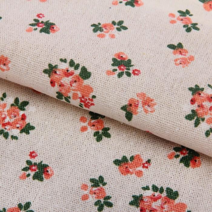 2735847 Ткань для пэчворка 'Холща Цветочный шебби', 47*50 см
