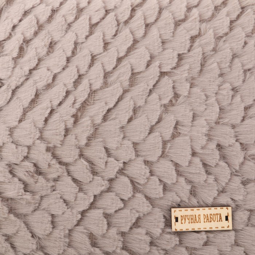 2741974 Ткань для пэчворка плюш 'Нежная тучка', 55 х 50 см
