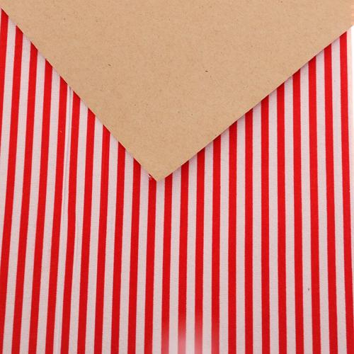 3087705 Ткань на клеевой основе'Красные полоски',