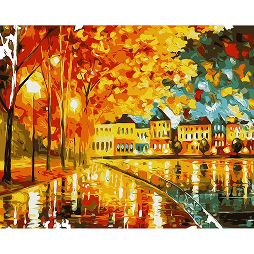 A012 Набор для рисования по номерам 'Осеннее настроение' 40*50см