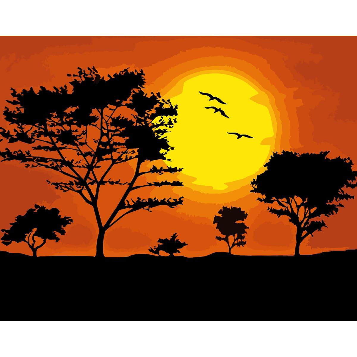 A021 Набор для рисования по номерам' Закат солнца' 40*50см