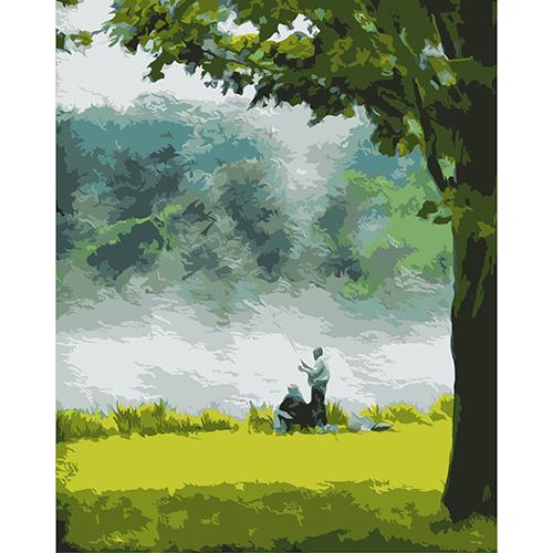 A028 Набор для рисования по номерам 'На рыбалке' 40*50см