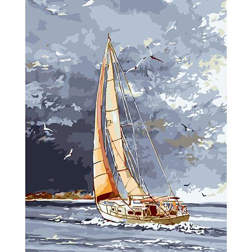 A041 Набор для рисования по номерам 'Попутный ветер' 40*50см