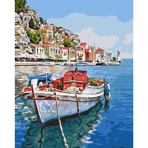 A051 Набор для рисования по номерам 'Лодка' 40*50см