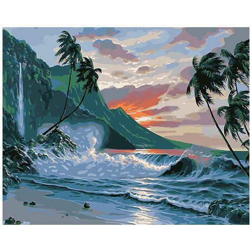 A059 Набор для рисования по номерам 'Дикий пляж' 40*50см