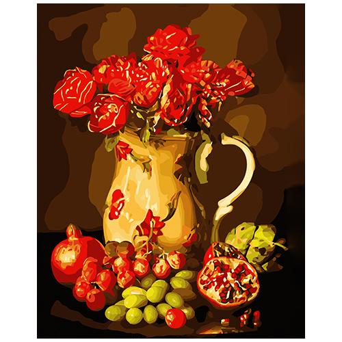 B028 Набор для рисования по номерам 'Натюрморт с фруктами' 40*50см