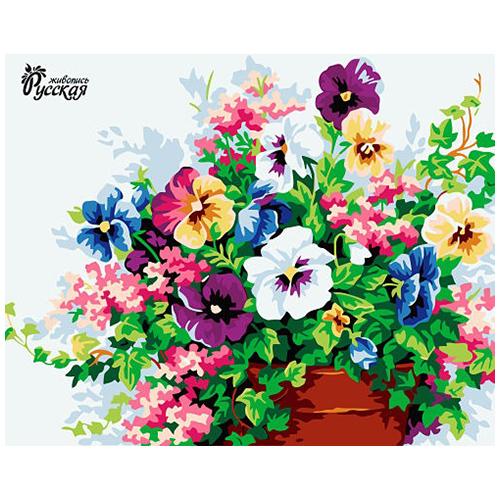 B046 Набор для рисования по номерам 'Цветочная композиция' 40*50см
