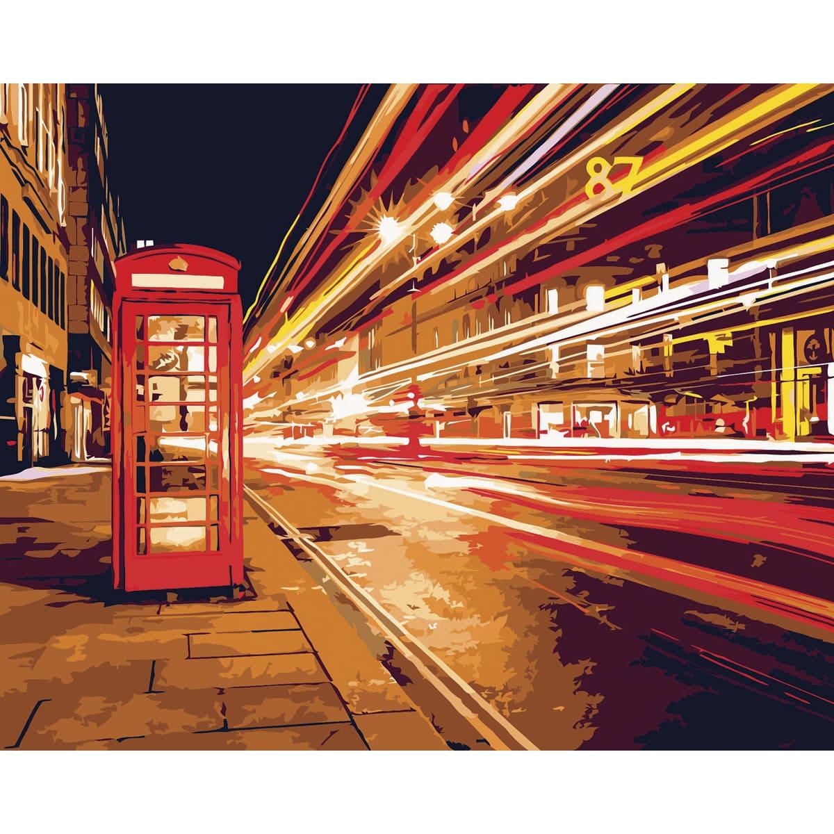 D003 Набор для рисования по номерам 'Ночной Лондон' 40*50см