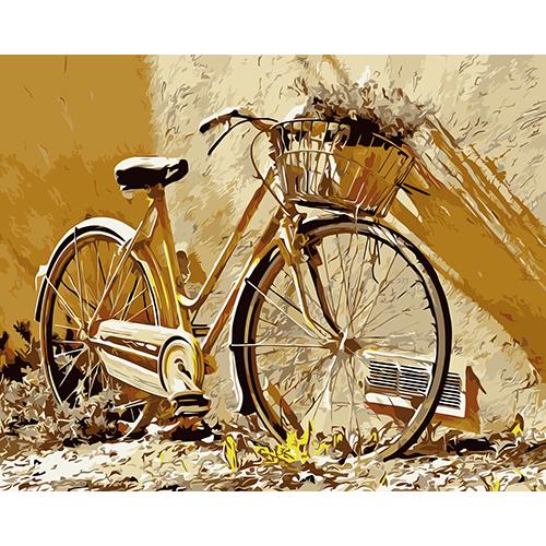 E003 Набор для рисования по номерам 'Велосипед' 40*50см