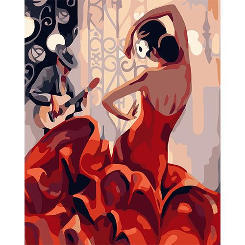 J012 Набор для рисования по номерам 'Страстный танец' 40*50см