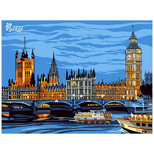 RL001 Набор для рисования по номерам 'Лондон' 30*40см