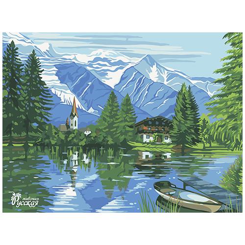 RL035 Набор для рисования по номерам 'Горный пейзаж ' 30*40см