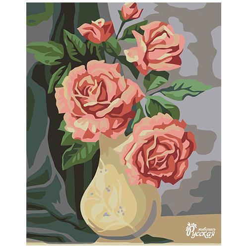 RL043 Набор для рисования по номерам 'Садовые розы' 30*40см