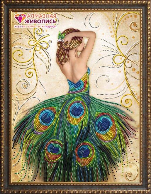 АЖ-3018 Картина стразами 'Волшебное платье' 40*50см
