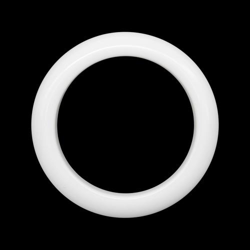 ГЛ672 Кольцо пластик. D=35/47мм, белое
