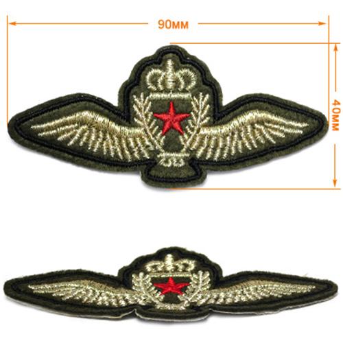 В17Х161 Нашивка (шеврон) 40*90мм, серебряные крылья