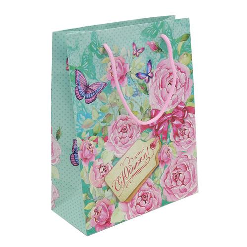 1717583 Пакет ламинат вертикальный «Нежные розы», MS 18 х 23 х 8 см