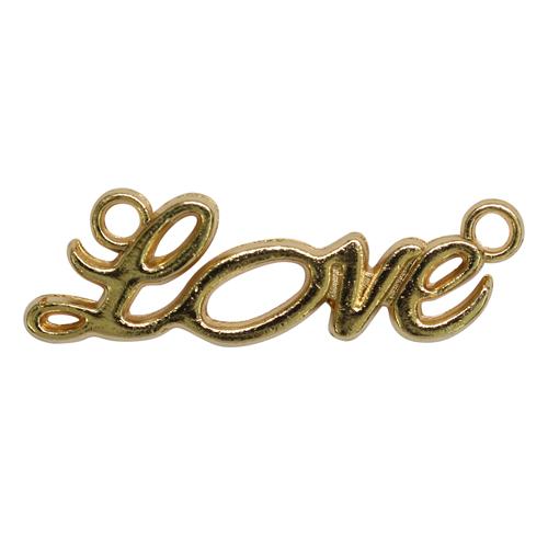 2329568 Коннектор 'Love' (набор 3шт) 6730, цвет золото