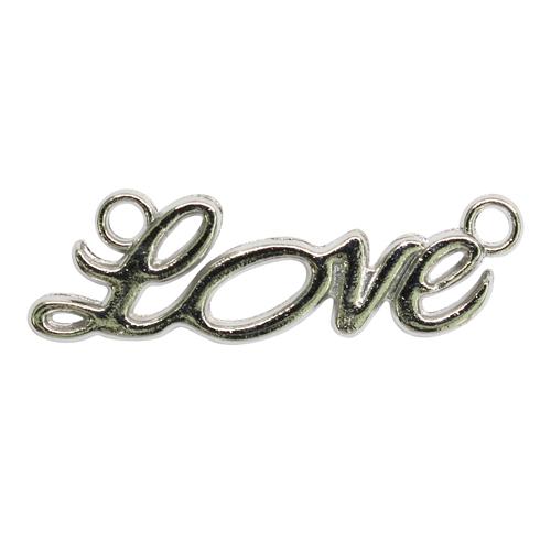 2329569 Коннектор 'Love' (набор 3шт) 6730, цвет серебро