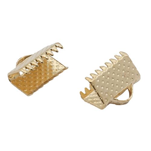 1514901 Зажим для ленты (набор 20шт) 10мм СМ-339, цвет золотой