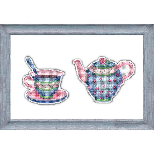 1088 Набор для вышивания ОВЕН 'Приятного чаепития- 3' 10*7 и×7*8см