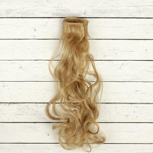 2294341 Волосы - тресс для кукол 'Кудри' длина волос 40 см, ширина 50 см, №16