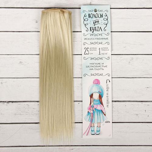 2294911 Волосы - тресс для кукол 'Прямые' длина волос 25 см, ширина 100 см, цвет № 88