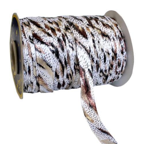 Бейка декоративная люрекс 'леопард' 15мм*91,4м