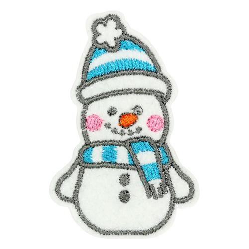 Термоаппликация 'Снеговичок' 7х4,6см Созвездие