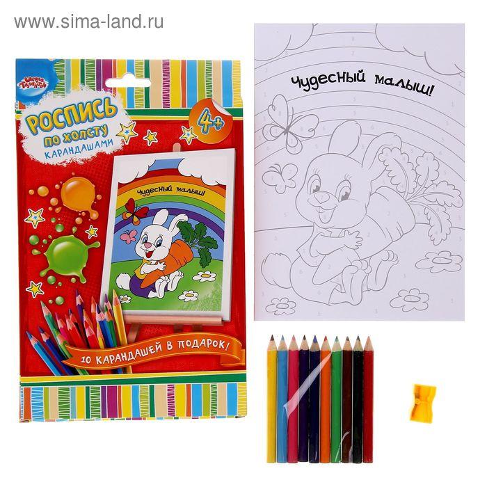 1144437 Роспись по номерам с карандашами 'Чудесный малыш', 15*21 см