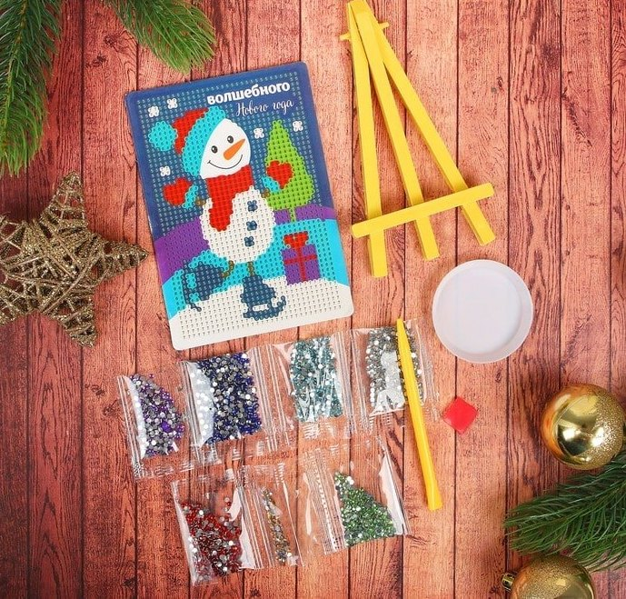 3142272 Алмазная мозаика для детей 'Снеговик'