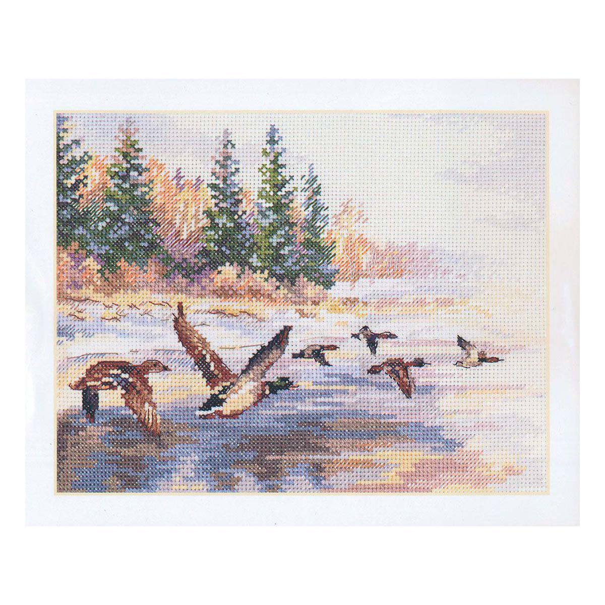 3-27 Набор для вышивания АЛИСА 'Утки летят' 23*17 см