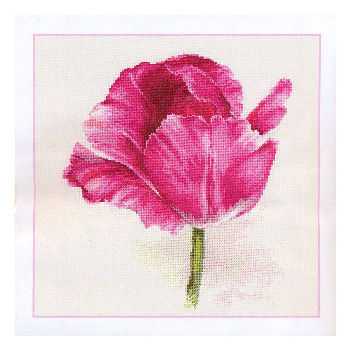 2-43 Набор для вышивания АЛИСА 'Тюльпаны. Малиновое сияние'22*26 см