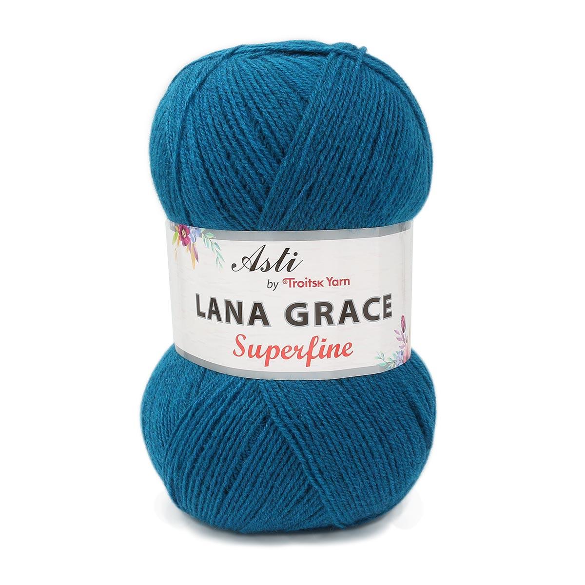 Пряжа из Троицка 'Lana Grace Superfine' 100гр. 610м. (25% мериносовая шерсть, 75% акрил супер софт)
